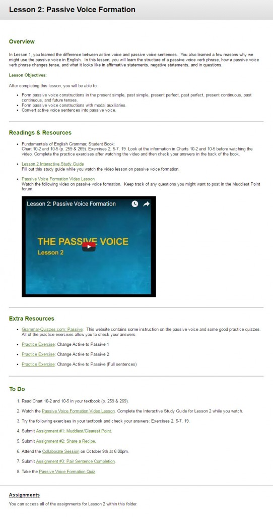 Online Course: Intermediate Grammar – Becky Menendez